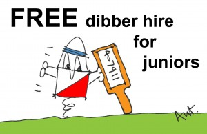 Free dibber hire for juniors!